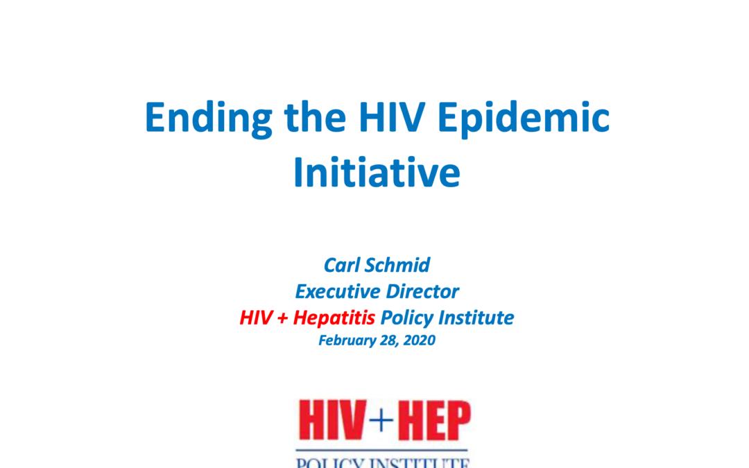 Ending the HIV epidemic initiative