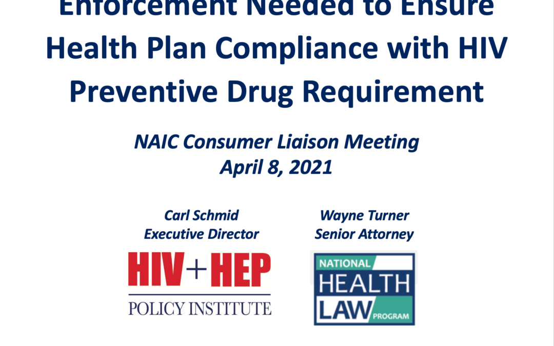 Enforcement needed to ensure health plan compliance with HIV preventive drug requirement
